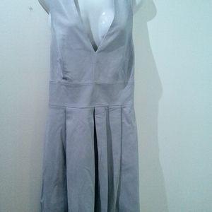 Banana Republic grey leather dress, size 14